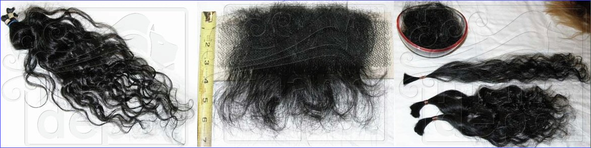 Drawing human hair for pretipped, wefting and ventilation