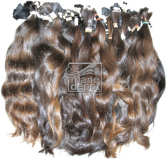 Virgin Brazilian Brown Hair with natural body Mane Depot