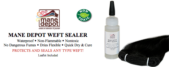 Weft Sealer for hair wefts