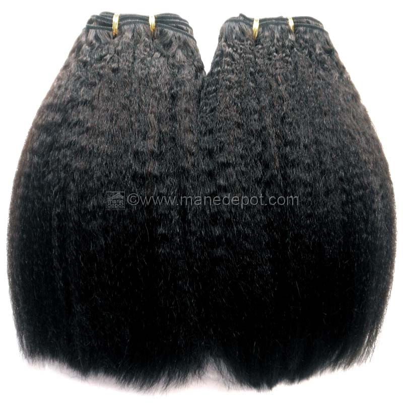 Malaysian Remy Kinky Straight Hair - ManeDepot.com