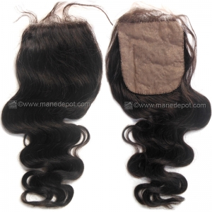 Malaysian Remy Salon Relaxed Gentle Wave Silk Base Closure