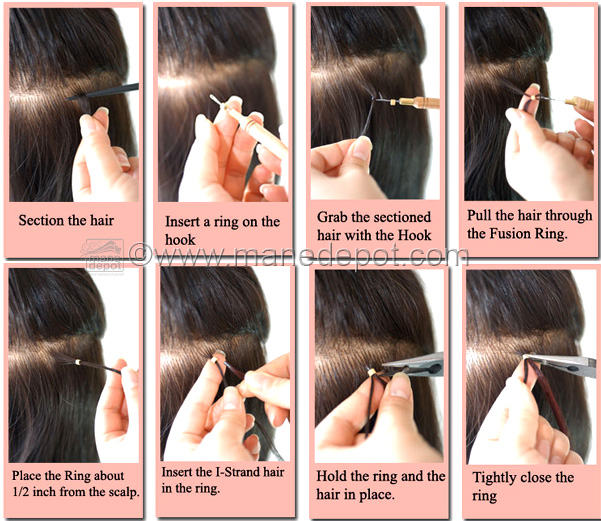 Extenshells short hair extension attachment ring manedepot how to attach i tip hair with rings for hair extensions pmusecretfo Image collections