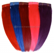 Fancy Color Remy Hair Machine Weft