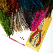 Grizzly Rooster Saddle Feathers Kit
