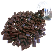 Keratin Fusion Glue Grain Pellets Dark Brown 1oz