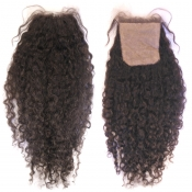 Malaysian Remy Curly Silk Base Closure
