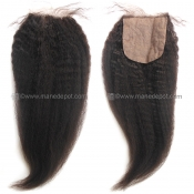 Malaysian Remy Kinky Straight Silk Base Closure