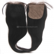 Malaysian Remy Salon Relaxed Straight Silk Base Closure
