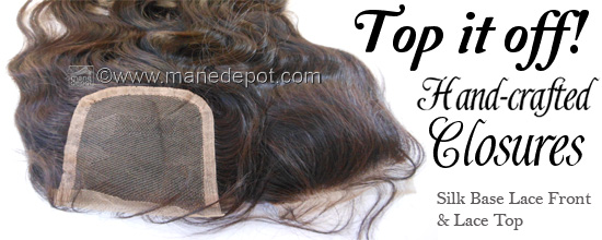 Silk Base Lace Front and Lace Top Hair Closures